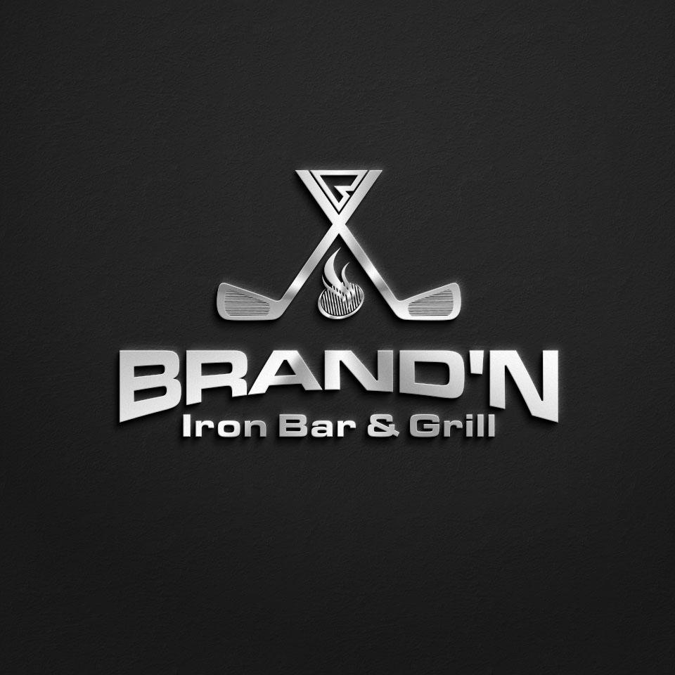 Logo Design by Raymond Garcia - Entry No. 134 in the Logo Design Contest Captivating Logo Design for Brand'n Iron Bar & Grill.