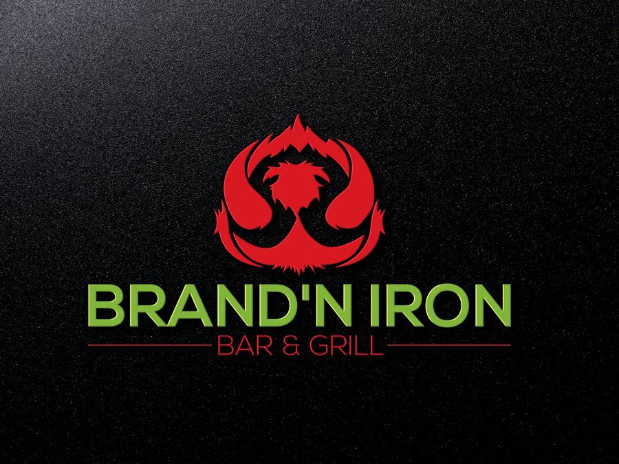 Logo Design by Siful Islamsi - Entry No. 135 in the Logo Design Contest Captivating Logo Design for Brand'n Iron Bar & Grill.