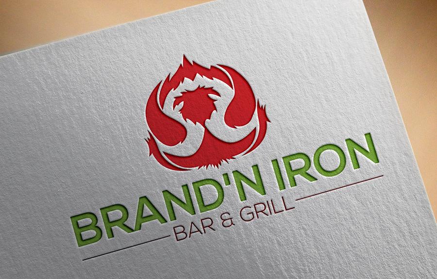 Logo Design by Siful Islamsi - Entry No. 136 in the Logo Design Contest Captivating Logo Design for Brand'n Iron Bar & Grill.