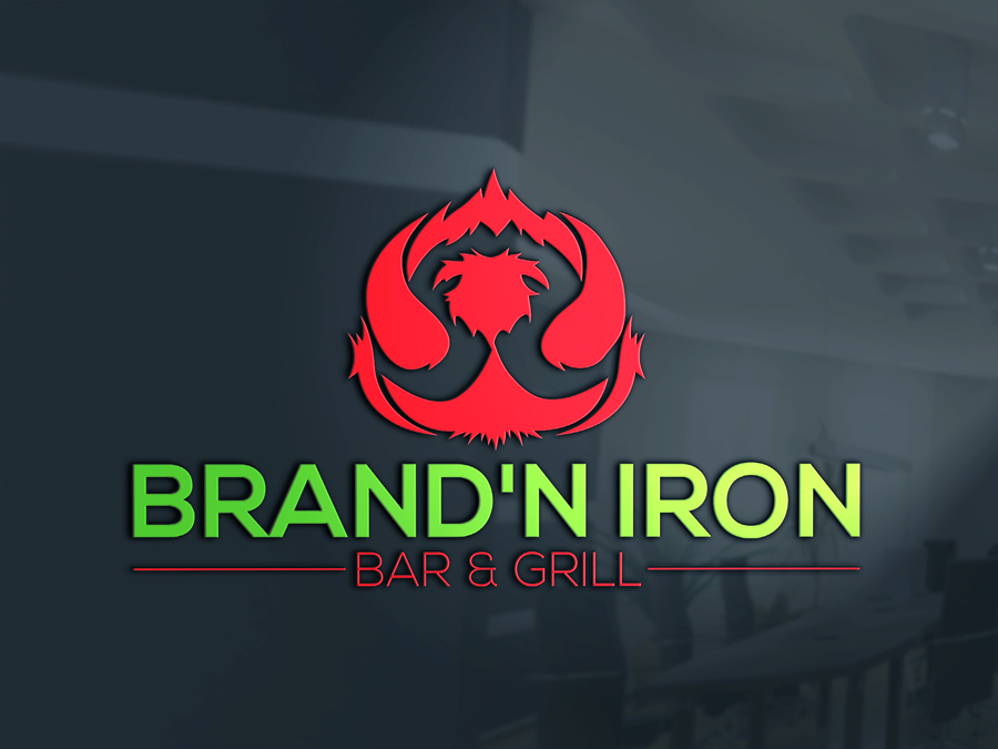 Logo Design by Siful Islamsi - Entry No. 138 in the Logo Design Contest Captivating Logo Design for Brand'n Iron Bar & Grill.