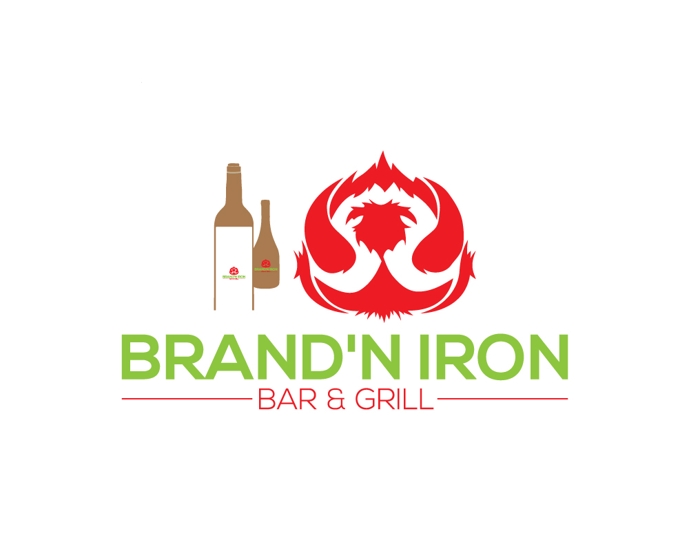 Logo Design by Siful Islamsi - Entry No. 140 in the Logo Design Contest Captivating Logo Design for Brand'n Iron Bar & Grill.
