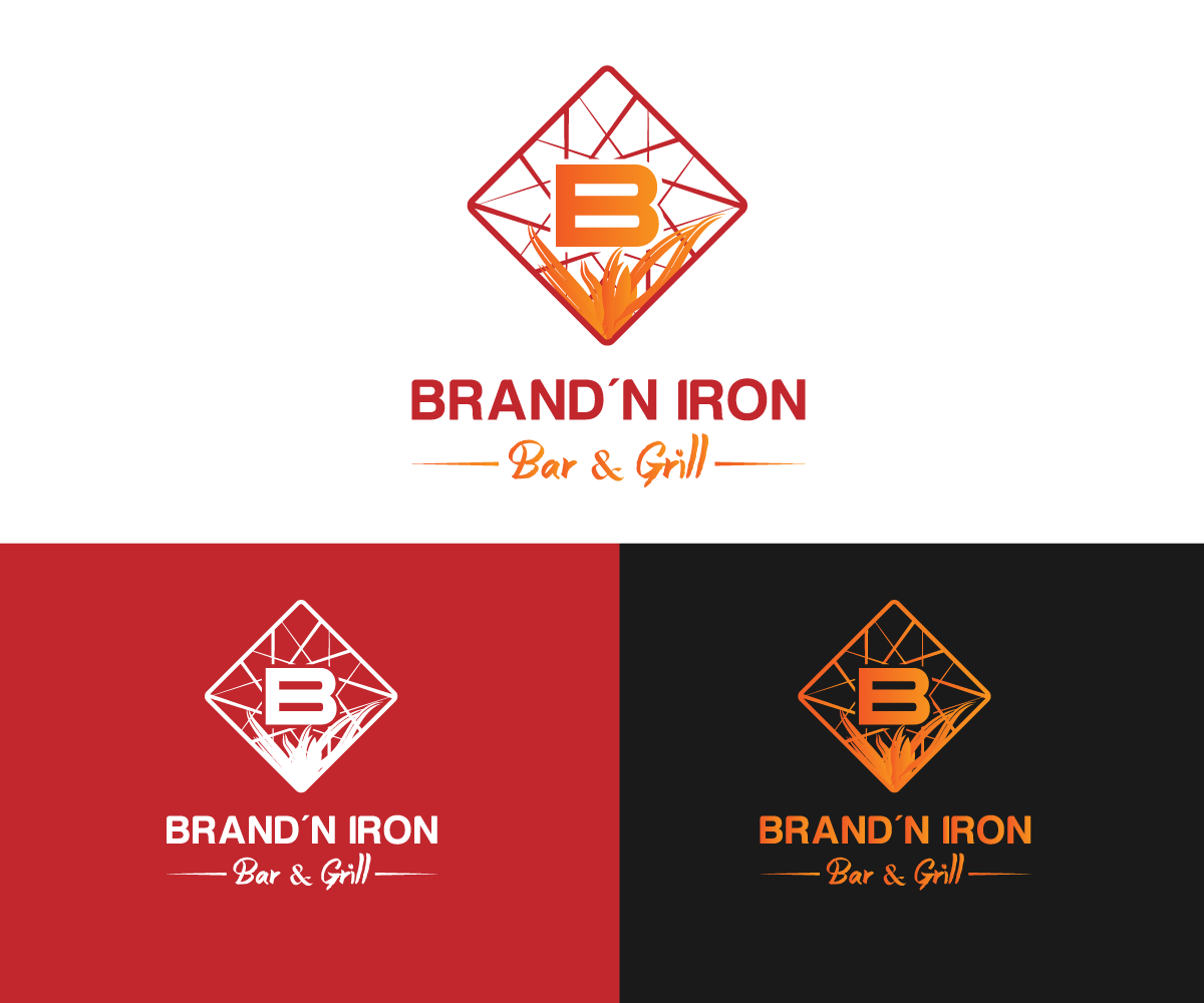 Logo Design by Perfect Design - Entry No. 142 in the Logo Design Contest Captivating Logo Design for Brand'n Iron Bar & Grill.