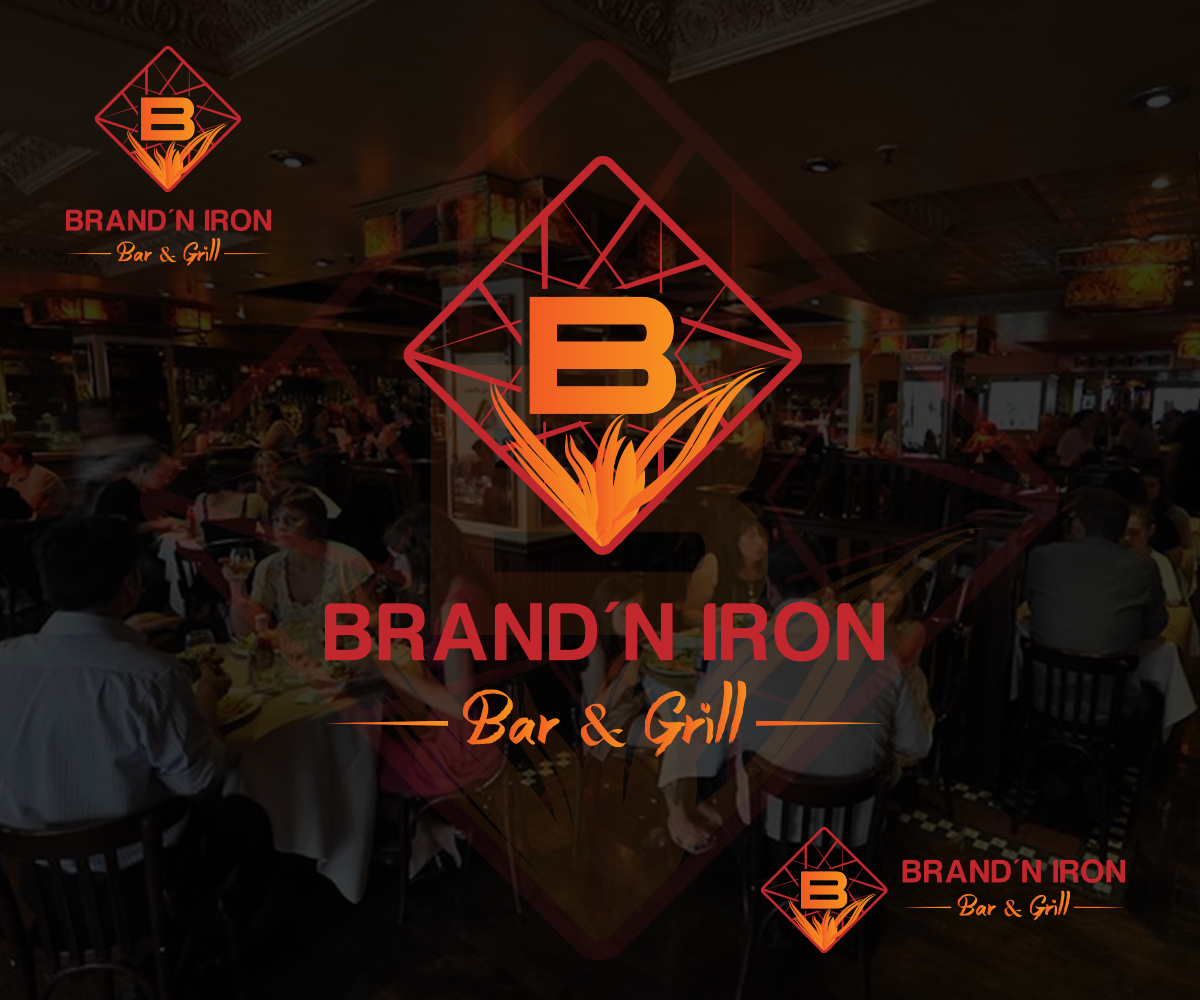 Logo Design by Perfect Design - Entry No. 143 in the Logo Design Contest Captivating Logo Design for Brand'n Iron Bar & Grill.