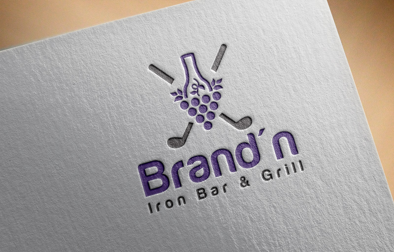 Logo Design by Maksud Rifat - Entry No. 144 in the Logo Design Contest Captivating Logo Design for Brand'n Iron Bar & Grill.