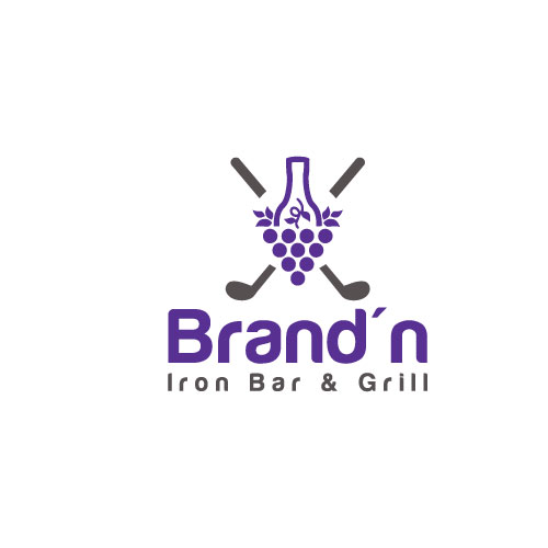 Logo Design by Maksud Rifat - Entry No. 146 in the Logo Design Contest Captivating Logo Design for Brand'n Iron Bar & Grill.