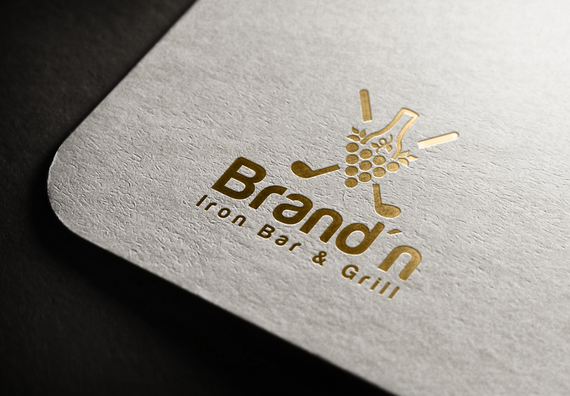 Logo Design by Maksud Rifat - Entry No. 148 in the Logo Design Contest Captivating Logo Design for Brand'n Iron Bar & Grill.