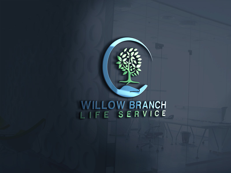 Logo Design by Maksud Rifat - Entry No. 439 in the Logo Design Contest Artistic Logo Design for Willow Branch Life Service.