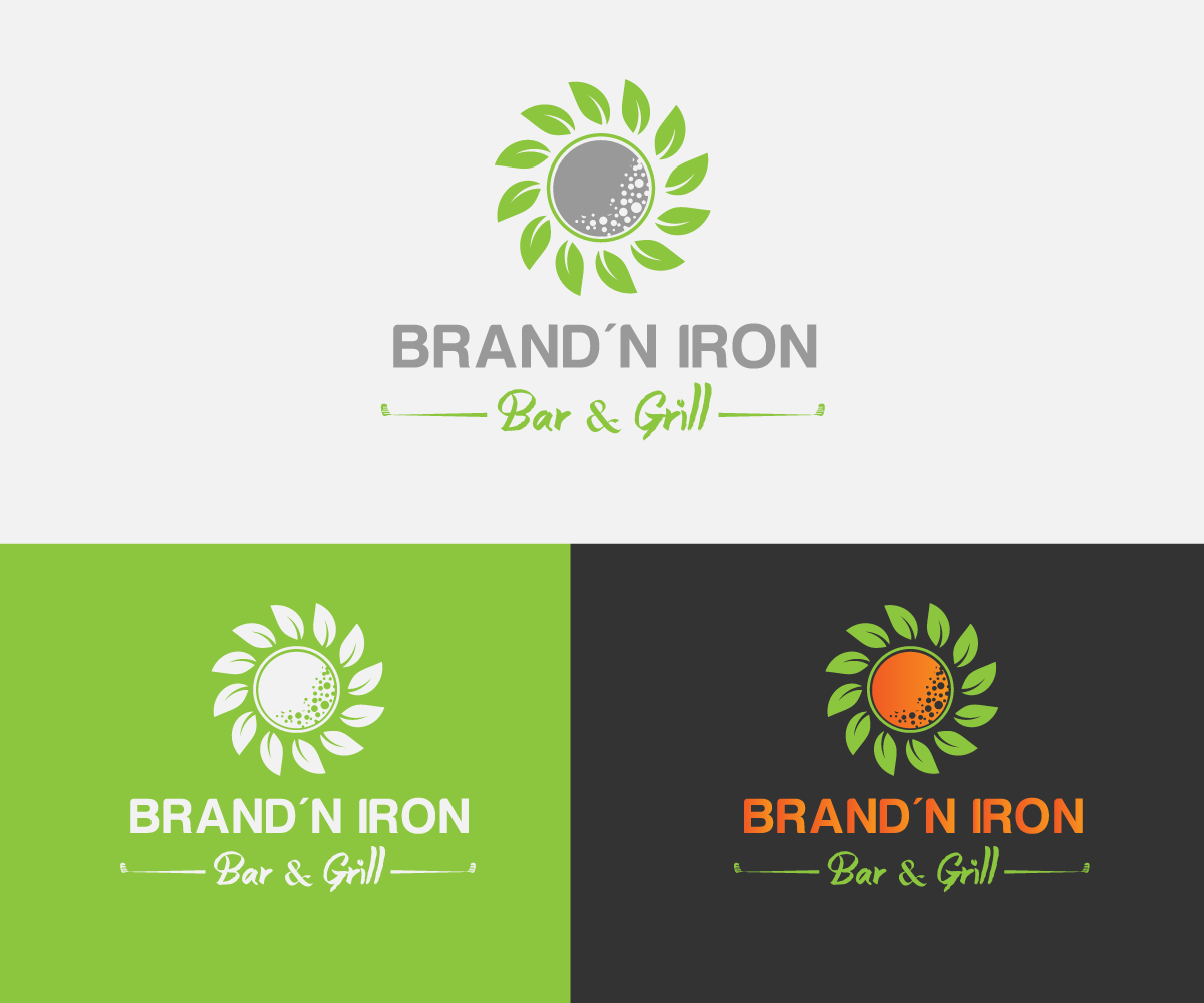 Logo Design by Perfect Design - Entry No. 149 in the Logo Design Contest Captivating Logo Design for Brand'n Iron Bar & Grill.