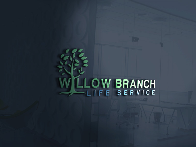 Logo Design by Maksud Rifat - Entry No. 440 in the Logo Design Contest Artistic Logo Design for Willow Branch Life Service.
