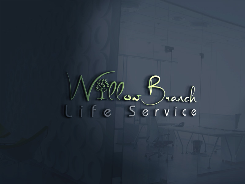 Logo Design by Maksud Rifat - Entry No. 441 in the Logo Design Contest Artistic Logo Design for Willow Branch Life Service.