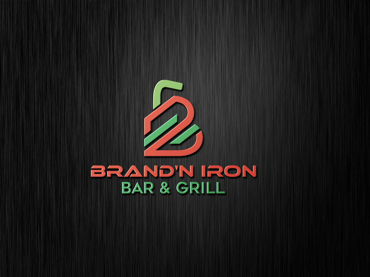 Logo Design by Private User - Entry No. 152 in the Logo Design Contest Captivating Logo Design for Brand'n Iron Bar & Grill.