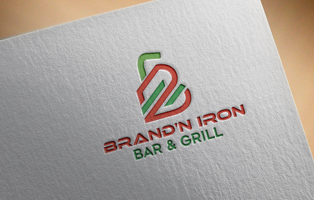 Logo Design by Private User - Entry No. 153 in the Logo Design Contest Captivating Logo Design for Brand'n Iron Bar & Grill.