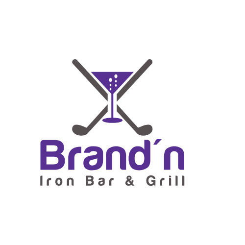 Logo Design by Maksud Rifat - Entry No. 159 in the Logo Design Contest Captivating Logo Design for Brand'n Iron Bar & Grill.