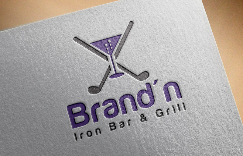 Logo Design by Maksud Rifat - Entry No. 160 in the Logo Design Contest Captivating Logo Design for Brand'n Iron Bar & Grill.
