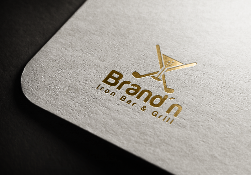 Logo Design by Maksud Rifat - Entry No. 162 in the Logo Design Contest Captivating Logo Design for Brand'n Iron Bar & Grill.