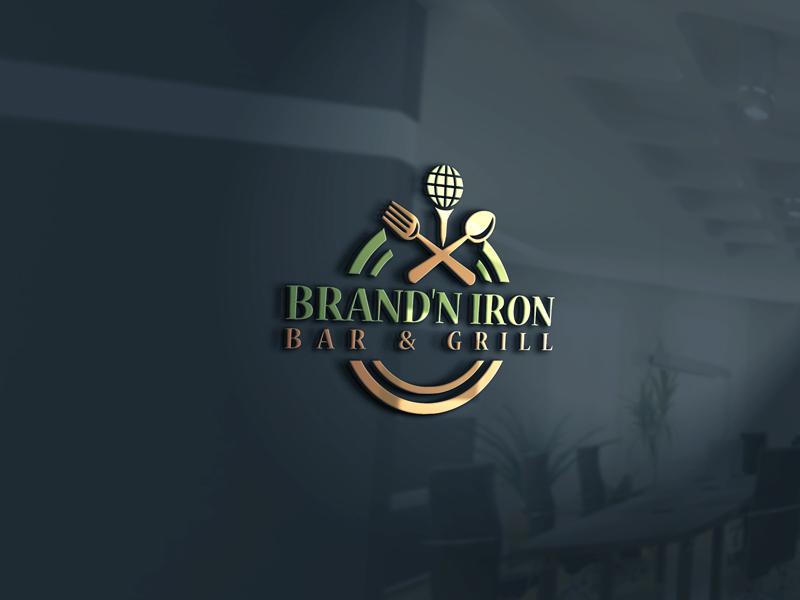 Logo Design by Md Harun Or Rashid - Entry No. 166 in the Logo Design Contest Captivating Logo Design for Brand'n Iron Bar & Grill.