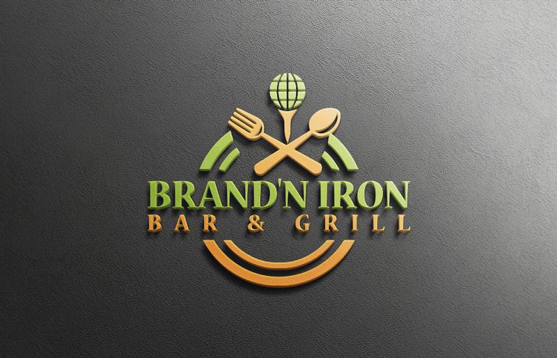 Logo Design by Md Harun Or Rashid - Entry No. 169 in the Logo Design Contest Captivating Logo Design for Brand'n Iron Bar & Grill.