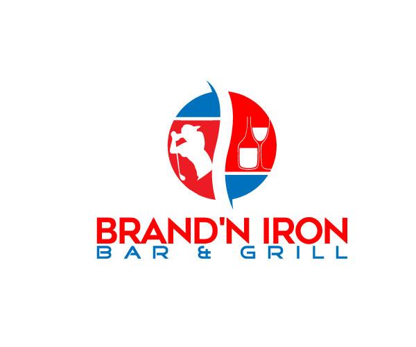 Logo Design by designboss - Entry No. 170 in the Logo Design Contest Captivating Logo Design for Brand'n Iron Bar & Grill.