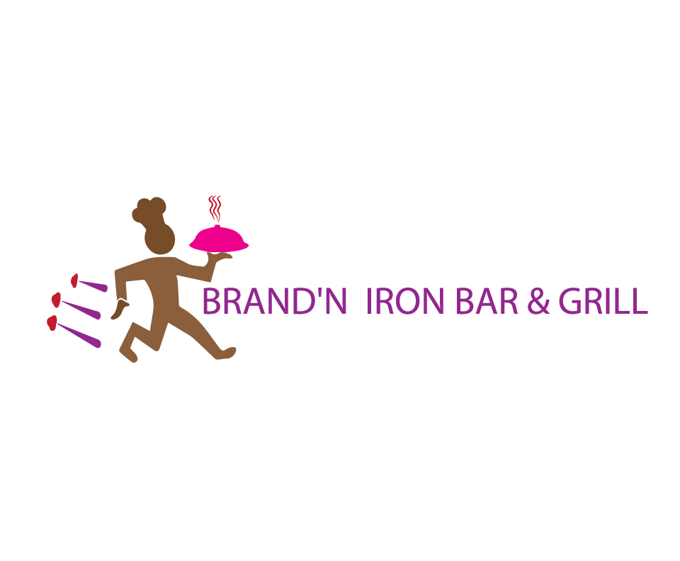 Logo Design by Private User - Entry No. 172 in the Logo Design Contest Captivating Logo Design for Brand'n Iron Bar & Grill.