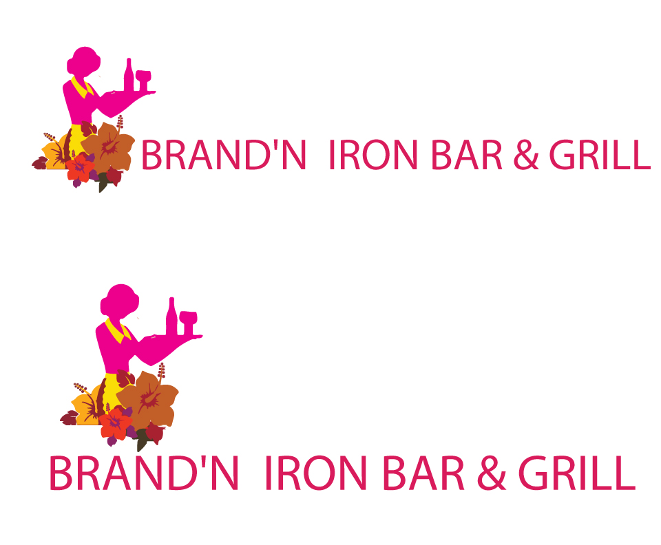 Logo Design by Private User - Entry No. 173 in the Logo Design Contest Captivating Logo Design for Brand'n Iron Bar & Grill.