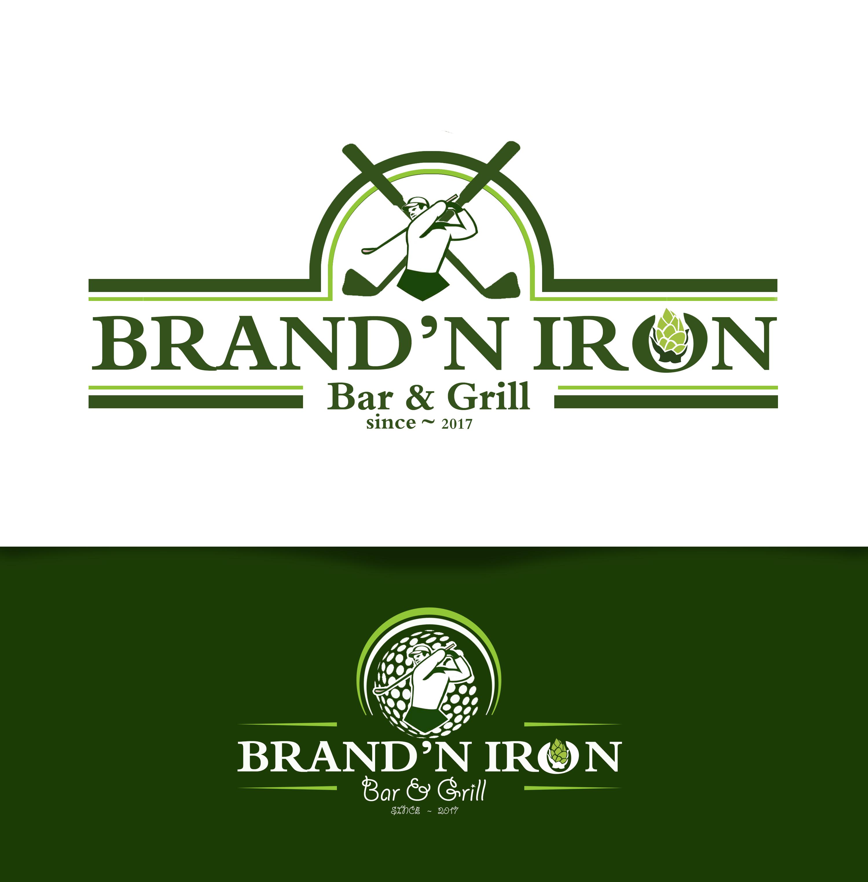 Logo Design by JSDESIGNGROUP - Entry No. 174 in the Logo Design Contest Captivating Logo Design for Brand'n Iron Bar & Grill.