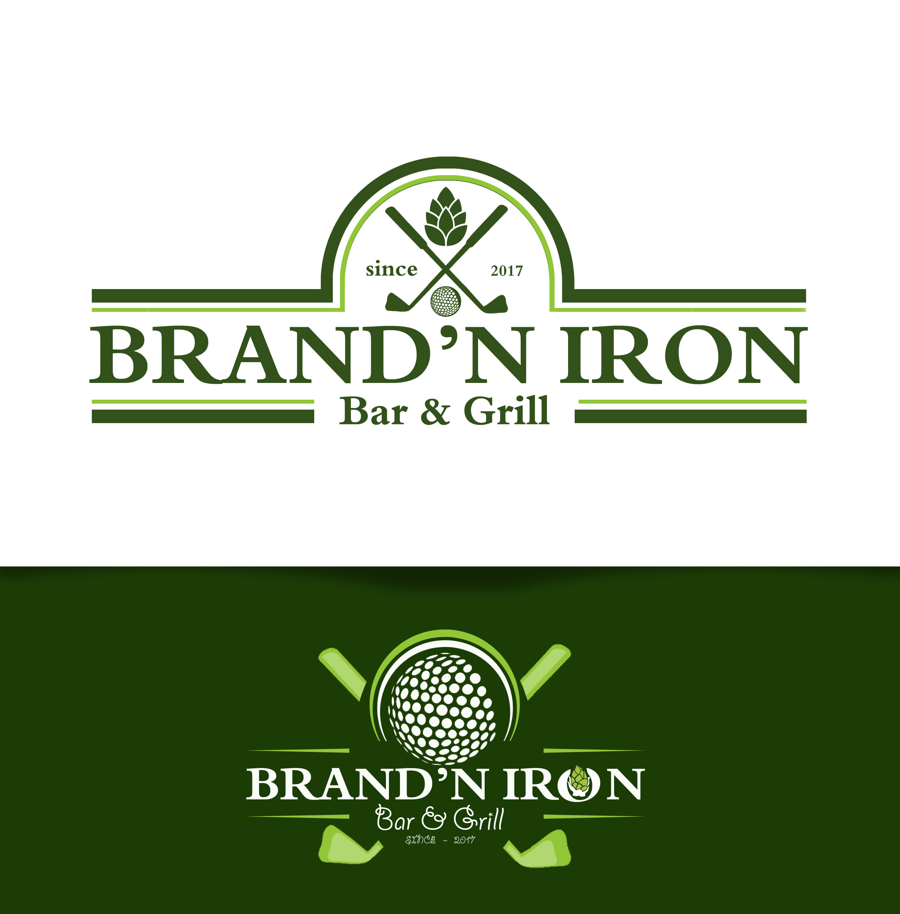 Logo Design by JSDESIGNGROUP - Entry No. 176 in the Logo Design Contest Captivating Logo Design for Brand'n Iron Bar & Grill.