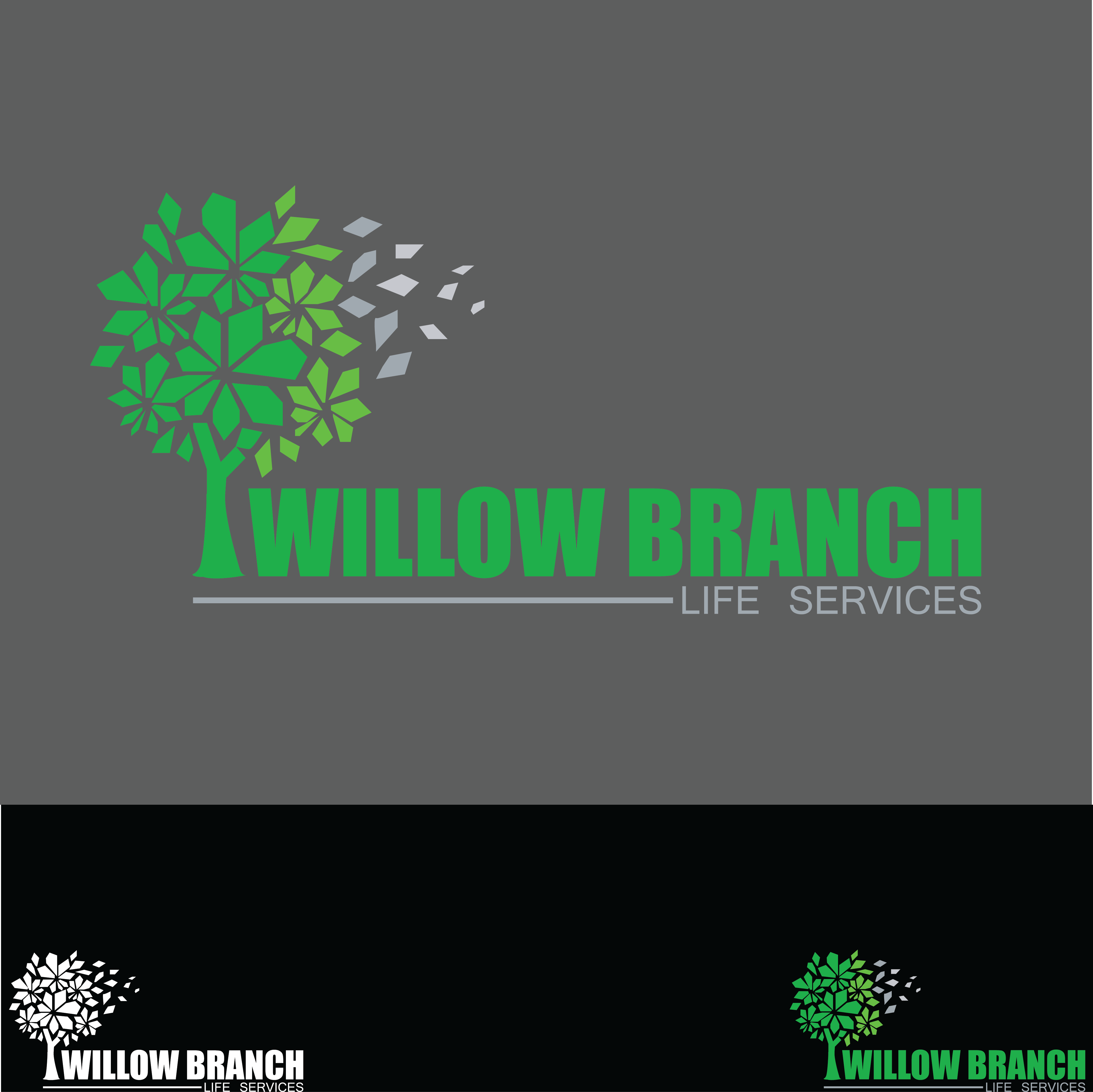 Logo Design by pojas12 - Entry No. 454 in the Logo Design Contest Artistic Logo Design for Willow Branch Life Service.