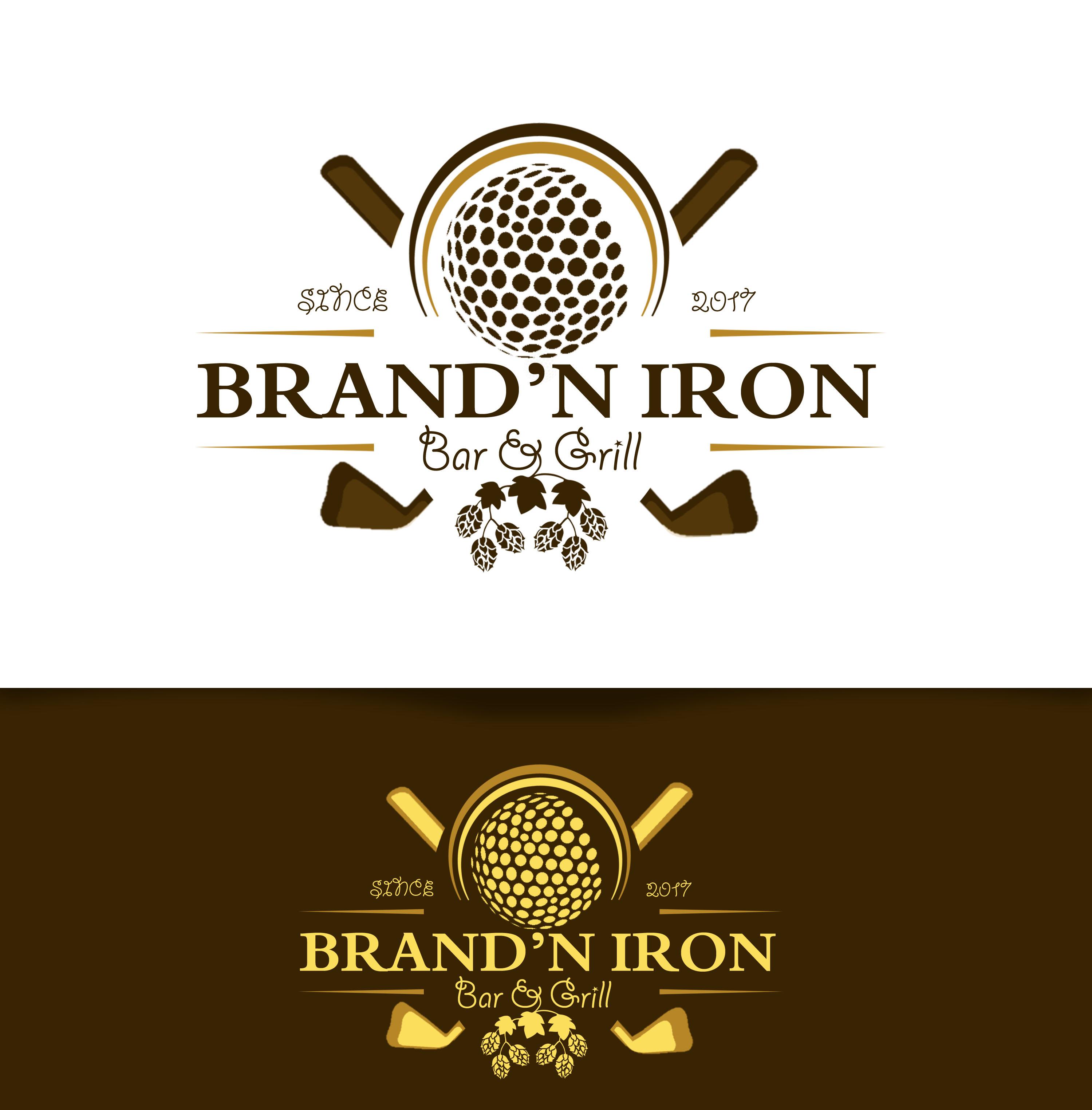 Logo Design by JSDESIGNGROUP - Entry No. 178 in the Logo Design Contest Captivating Logo Design for Brand'n Iron Bar & Grill.