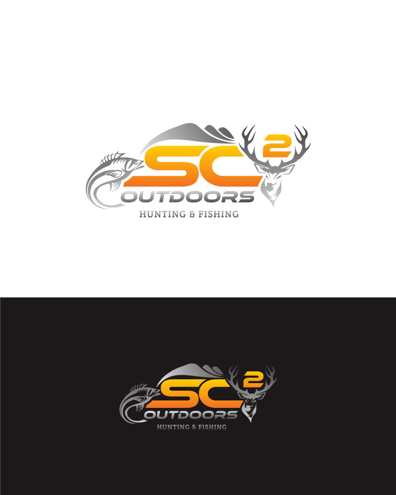 Logo Design by Tauhid Shaikh - Entry No. 20 in the Logo Design Contest Imaginative Logo Design for SC2 Outdoors Hunting / Fishing Logo.