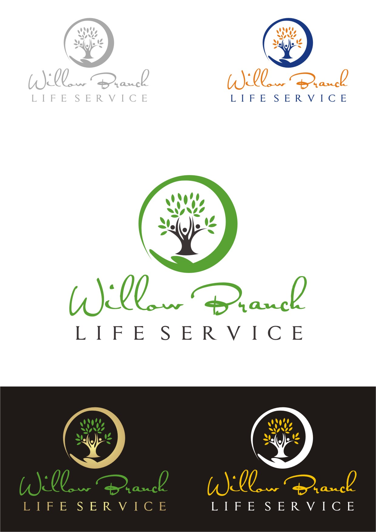 Logo Design by Lynx Graphics - Entry No. 466 in the Logo Design Contest Artistic Logo Design for Willow Branch Life Service.