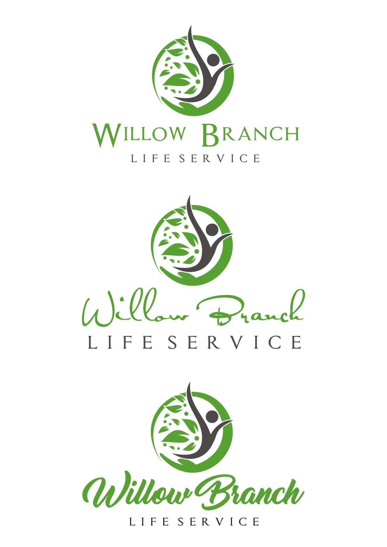 Logo Design by Lynx Graphics - Entry No. 469 in the Logo Design Contest Artistic Logo Design for Willow Branch Life Service.