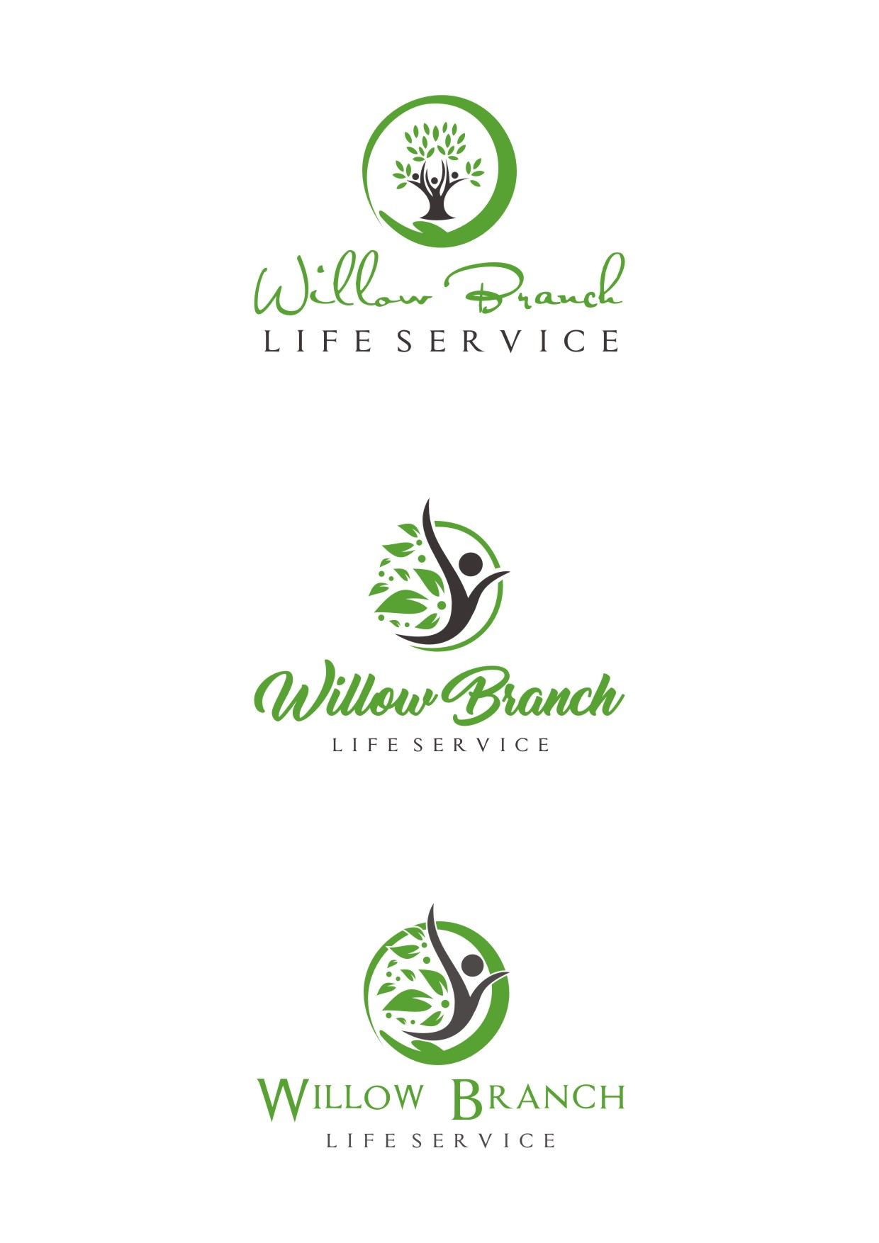 Logo Design by Lynx Graphics - Entry No. 470 in the Logo Design Contest Artistic Logo Design for Willow Branch Life Service.
