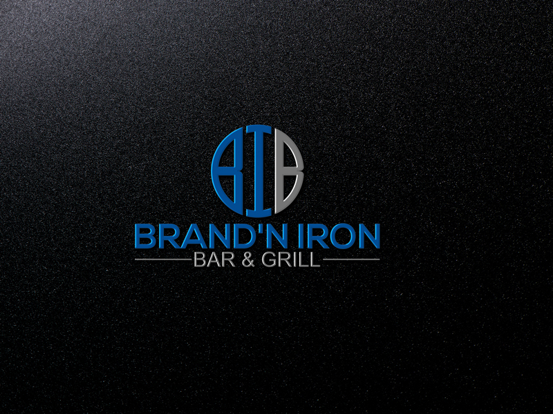 Logo Design by Private User - Entry No. 184 in the Logo Design Contest Captivating Logo Design for Brand'n Iron Bar & Grill.