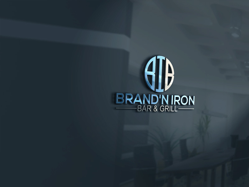 Logo Design by Private User - Entry No. 185 in the Logo Design Contest Captivating Logo Design for Brand'n Iron Bar & Grill.