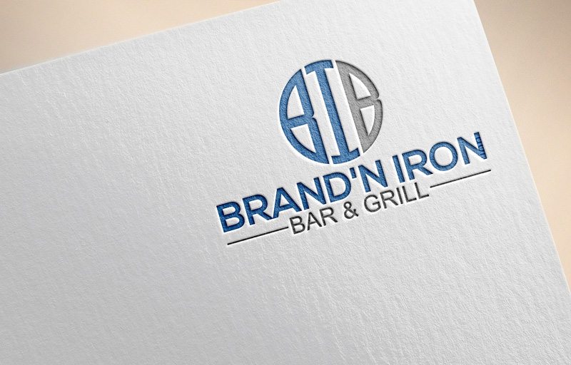 Logo Design by Private User - Entry No. 186 in the Logo Design Contest Captivating Logo Design for Brand'n Iron Bar & Grill.