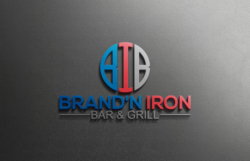 Logo Design by Private User - Entry No. 187 in the Logo Design Contest Captivating Logo Design for Brand'n Iron Bar & Grill.