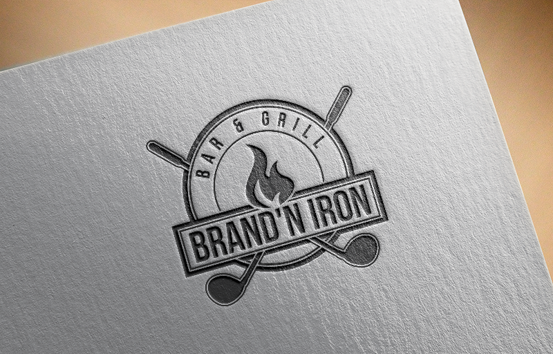 Logo Design by Private User - Entry No. 188 in the Logo Design Contest Captivating Logo Design for Brand'n Iron Bar & Grill.