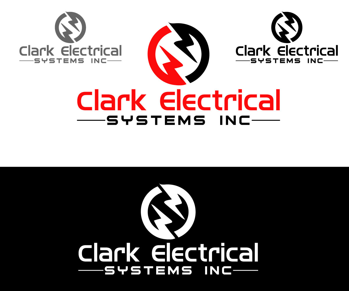 Logo Design by One Touch - Entry No. 69 in the Logo Design Contest Artistic Logo Design for Clark Electrical Systems Inc..