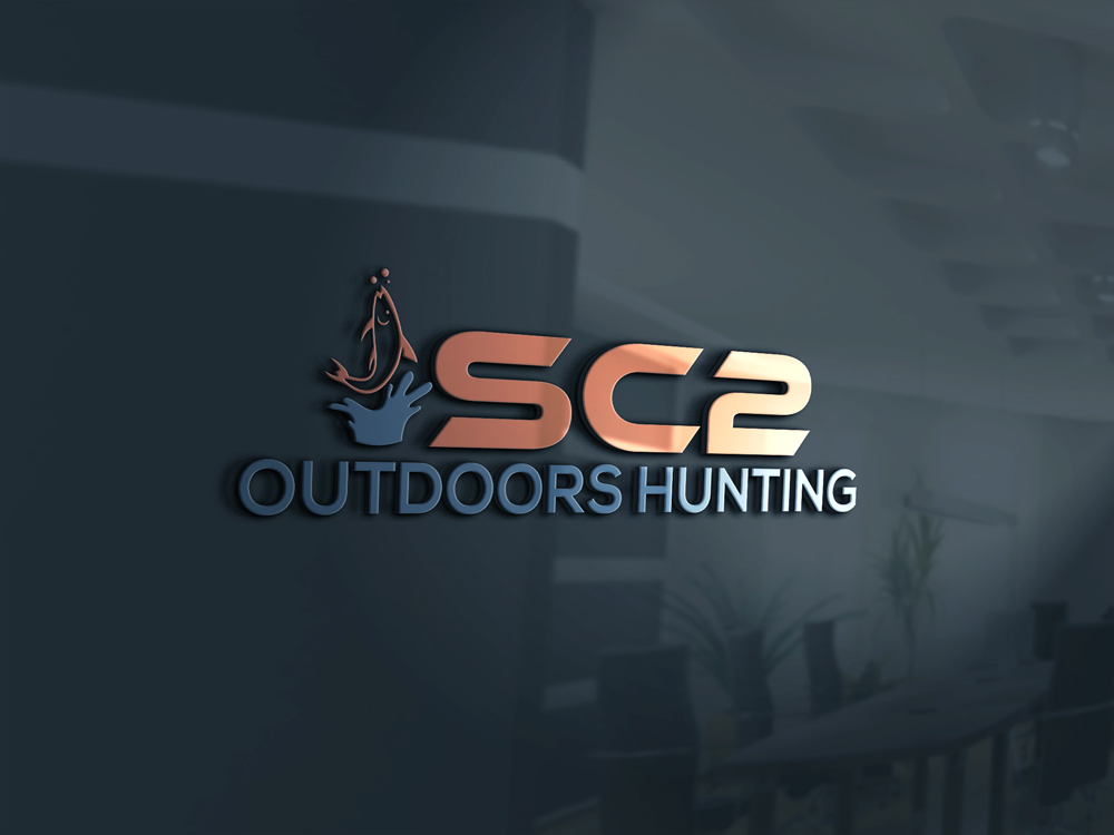 Logo Design by Rased Vai - Entry No. 38 in the Logo Design Contest Imaginative Logo Design for SC2 Outdoors Hunting / Fishing Logo.