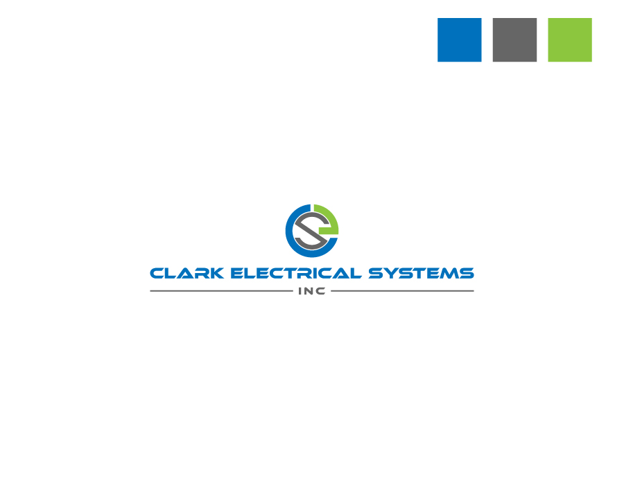 Logo Design by Neon Mirza shakib - Entry No. 109 in the Logo Design Contest Artistic Logo Design for Clark Electrical Systems Inc..