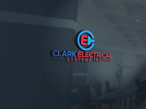 Logo Design by Bahar Hossain - Entry No. 117 in the Logo Design Contest Artistic Logo Design for Clark Electrical Systems Inc..