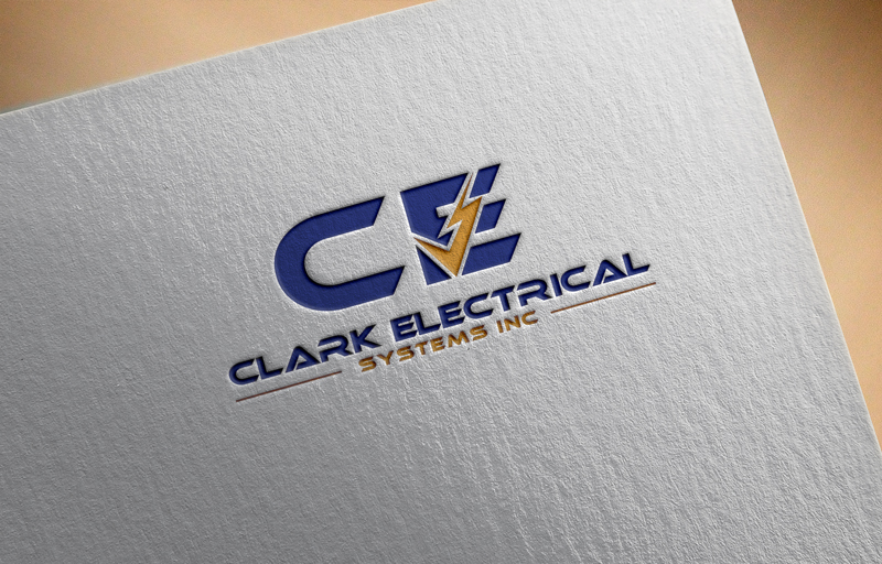 Logo Design by Ismail Hossain - Entry No. 125 in the Logo Design Contest Artistic Logo Design for Clark Electrical Systems Inc..