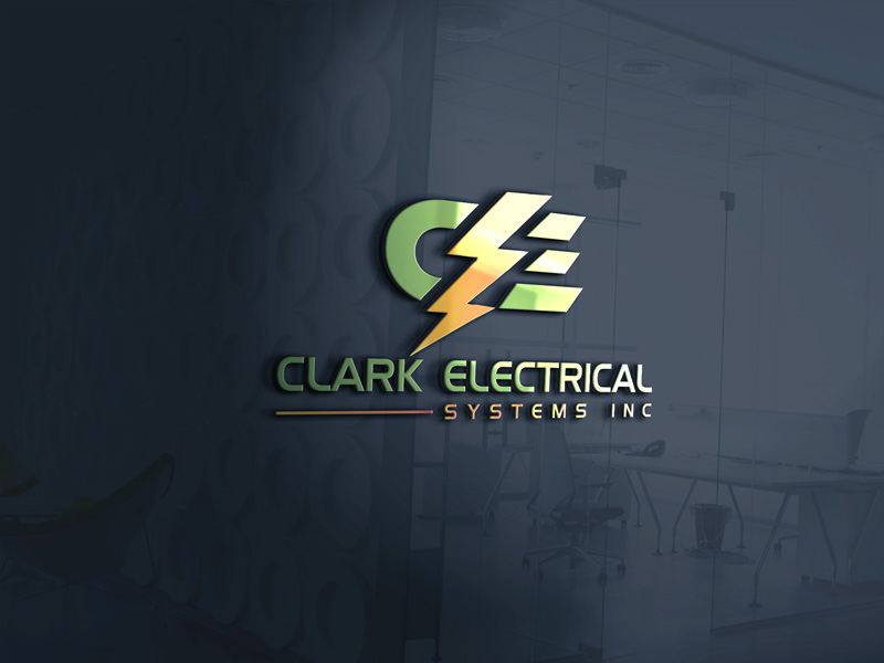 Logo Design by Sinthiya Omar - Entry No. 127 in the Logo Design Contest Artistic Logo Design for Clark Electrical Systems Inc..