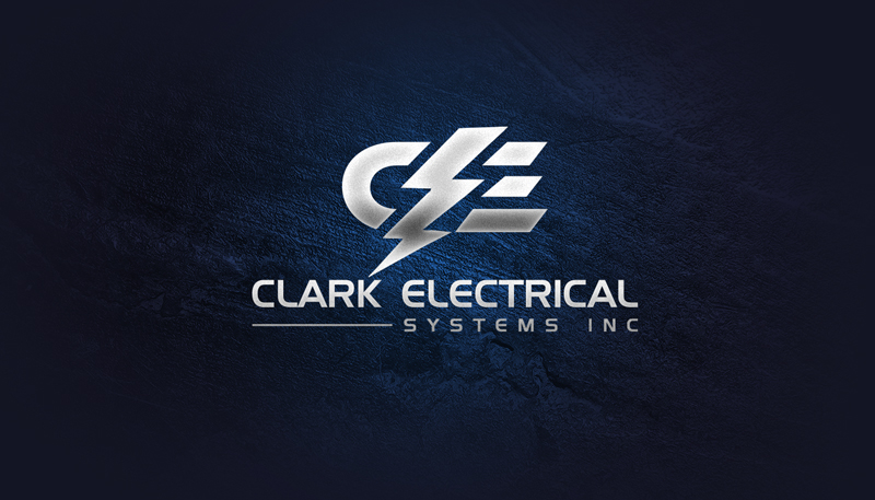 Logo Design by Sinthiya Omar - Entry No. 130 in the Logo Design Contest Artistic Logo Design for Clark Electrical Systems Inc..