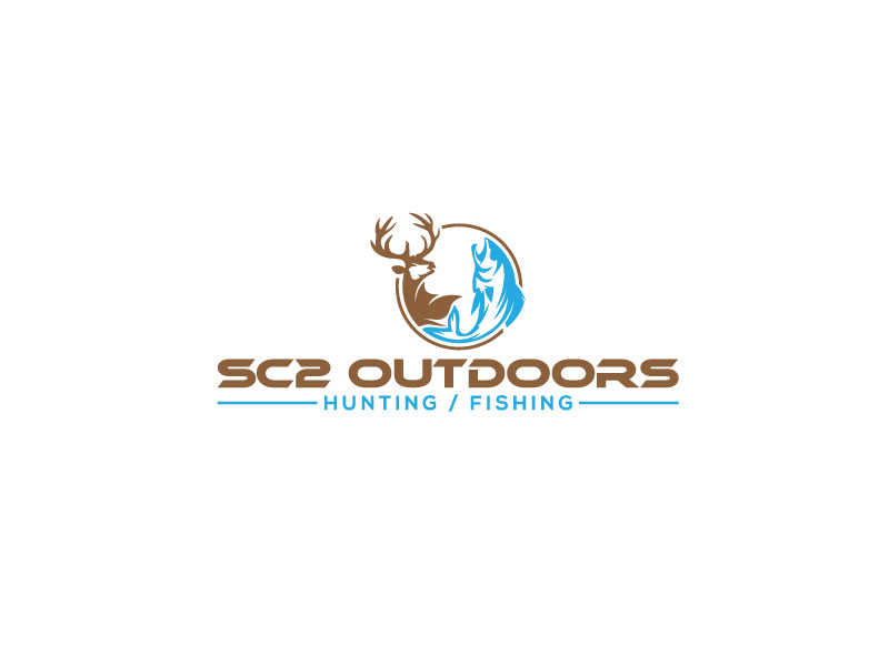 Logo Design by Bahar Hossain - Entry No. 80 in the Logo Design Contest Imaginative Logo Design for SC2 Outdoors Hunting / Fishing Logo.