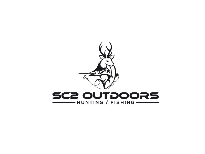 Logo Design by Bahar Hossain - Entry No. 86 in the Logo Design Contest Imaginative Logo Design for SC2 Outdoors Hunting / Fishing Logo.