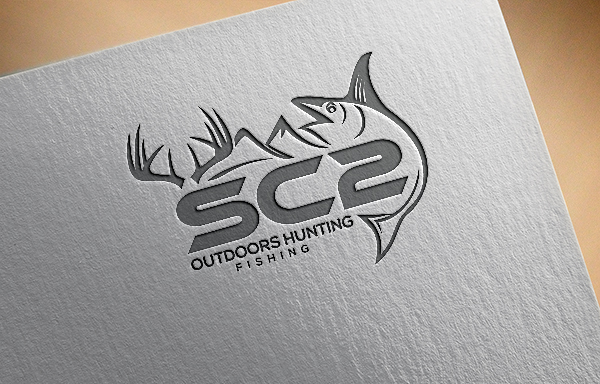 Logo Design by Bahar Hossain - Entry No. 88 in the Logo Design Contest Imaginative Logo Design for SC2 Outdoors Hunting / Fishing Logo.