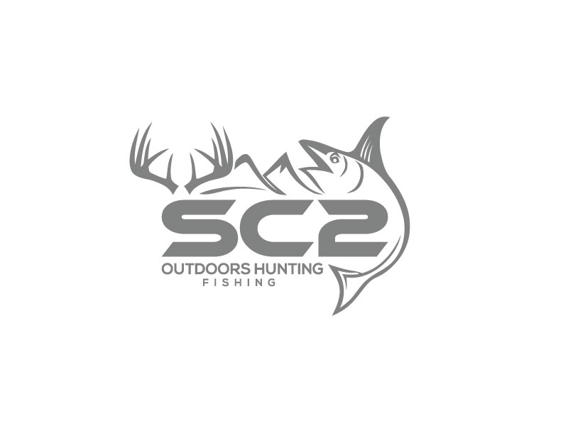 Logo Design by Bahar Hossain - Entry No. 90 in the Logo Design Contest Imaginative Logo Design for SC2 Outdoors Hunting / Fishing Logo.