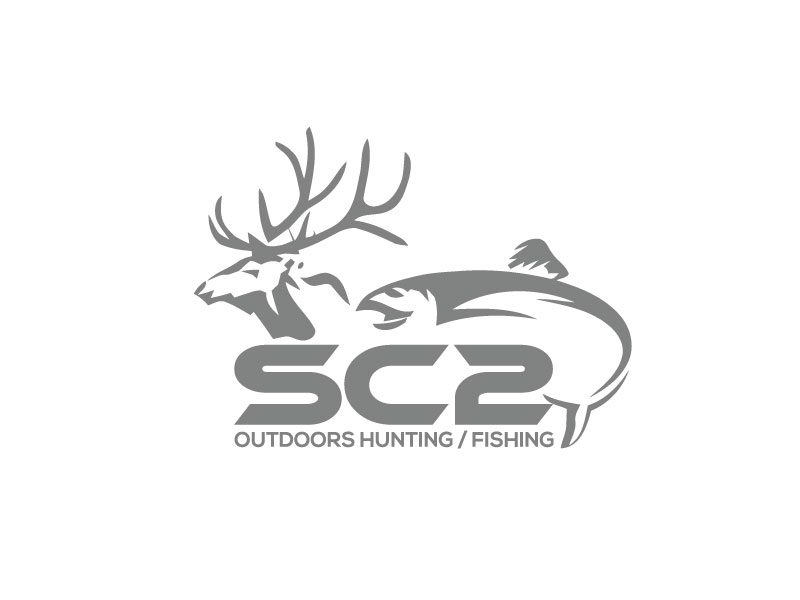 Logo Design by Bahar Hossain - Entry No. 93 in the Logo Design Contest Imaginative Logo Design for SC2 Outdoors Hunting / Fishing Logo.