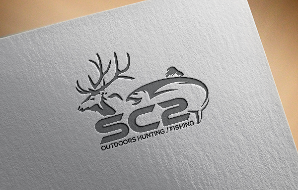 Logo Design by Bahar Hossain - Entry No. 94 in the Logo Design Contest Imaginative Logo Design for SC2 Outdoors Hunting / Fishing Logo.